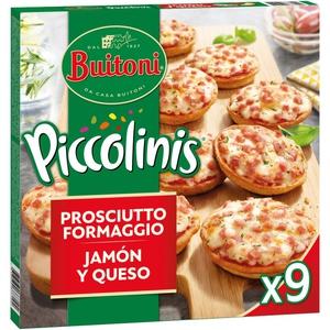 PICCOLINIS Mini pizzes de pernil dolç i formatge