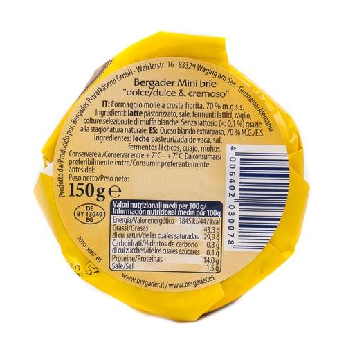 BERGADER Formatge mini Brie