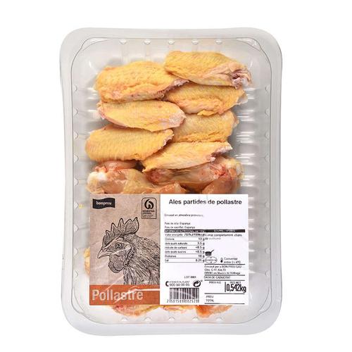 BONPREU Ales de pollastre partides