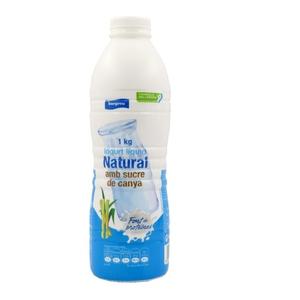 BONPREU Iogurt líquid natural amb sucre de canya