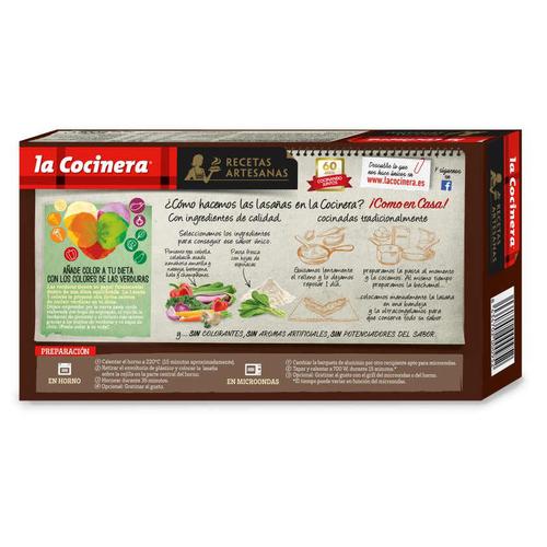 LA COCINERA Lasanya d'hortalisses i xampinyons