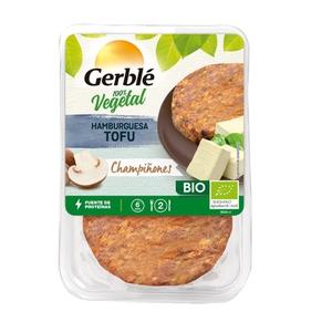 GERBLÉ Hamburguesa de tofu i bolets ecològiques