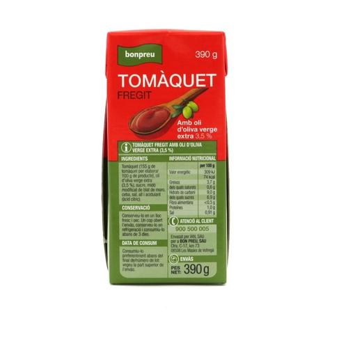 BONPREU Tomàquet fregit amb oli d'oliva