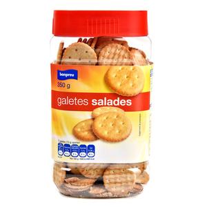 BONPREU Galetes salades rodones