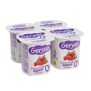 GERVAIS Iogurt desnatat de maduixa amb trossos