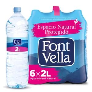 FONT VELLA Aigua mineral natural 6x2L