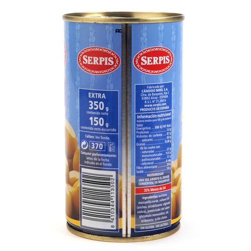 SERPIS Olives farcides d'anxova més lleugeres