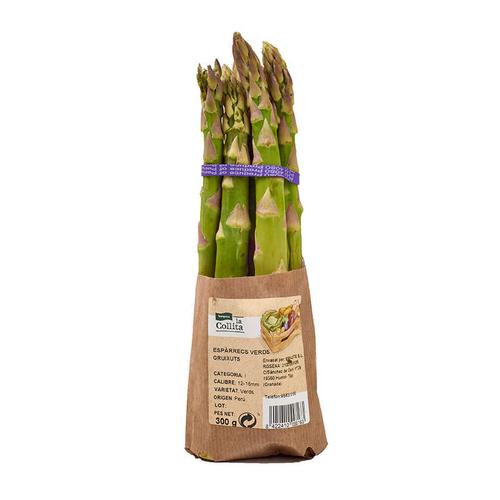 LA COLLITA Espàrrecs verds gruixuts en manat de 300 grams