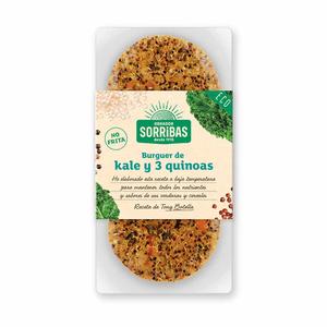 SORRIBAS Hamburguesa de kale i tres quinoas Eco.