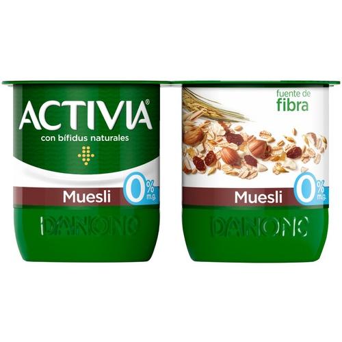 ACTIVIA Iogurt fibres amb musli 0%
