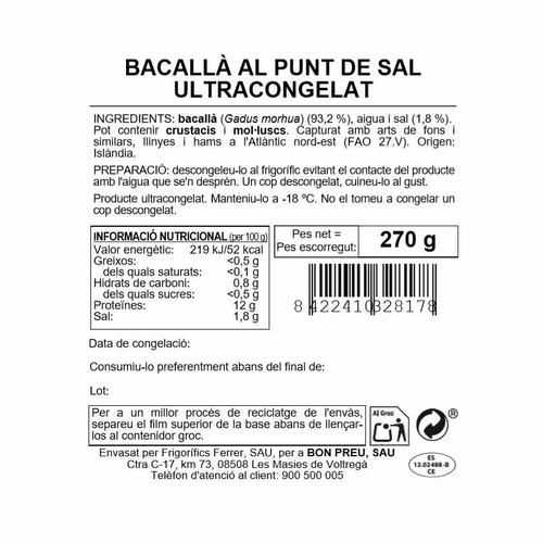 BONPREU Bacallà al punt de sal