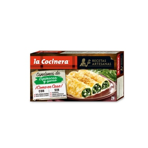 LA COCINERA Canelons d'espinacs i formatge fresc