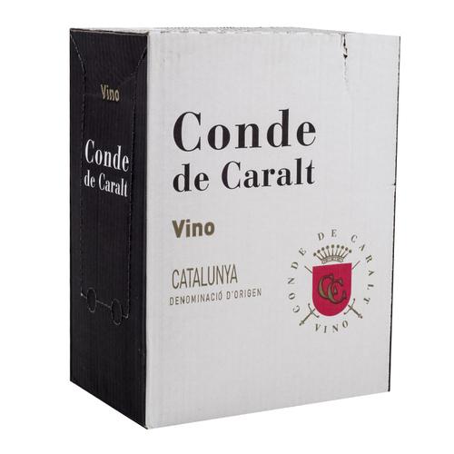 CONDE DE CARALT Caixa de vi negre DO Catalunya Km0