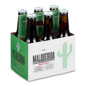 MALQUERIDA Pack cervesa vermella fresca 6x25 cl
