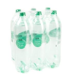 BONPREU Aigua amb gas 6x1,5 L