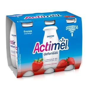 ACTIMEL Iogurt per beure de maduixa