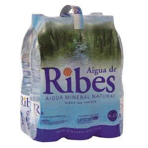 RIBES Aigua mineral natural 6x1,5L