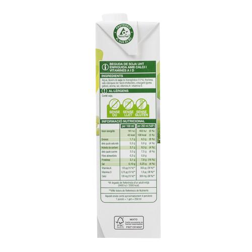 BONPREU Beguda de soja amb calci i vitamines