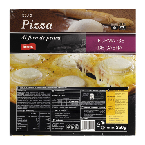 BONPREU Pizza de formatge de cabra