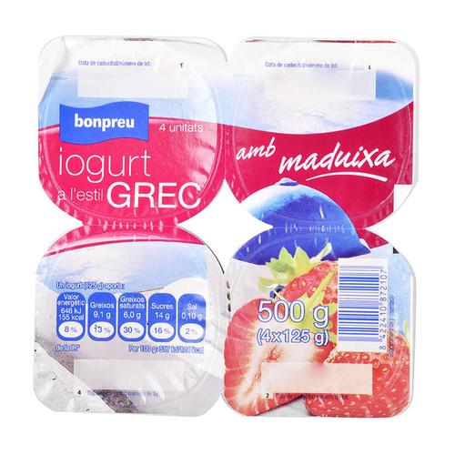 BONPREU Iogurt grec maduixa