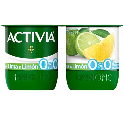 ACTIVIA Iogurt amb llima i llimona 0%